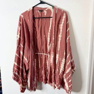 Style Envy wide sleeve cardigan bleach dye